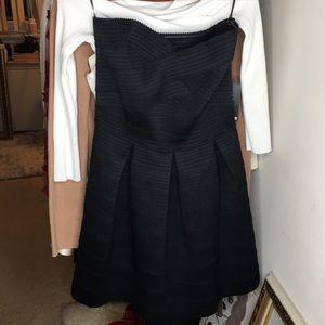 Black bandage dress with sweetheart neckline